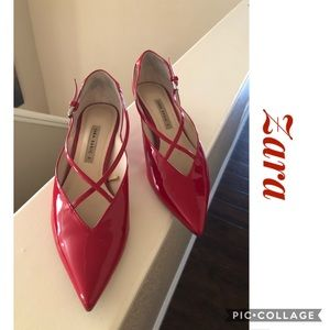 Zara Red Patent Leather Shoes